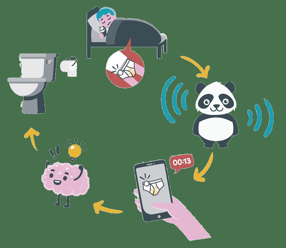 Dryly plaswekker - How does it work - circle - panda Wizzu