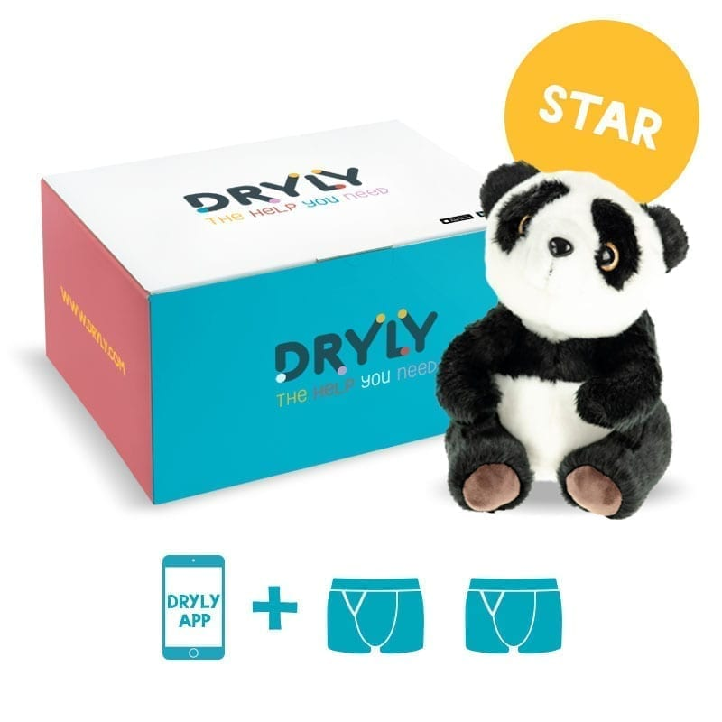 Dryly - plaswekker pakket - Star - de oplossing tegen bedplassen