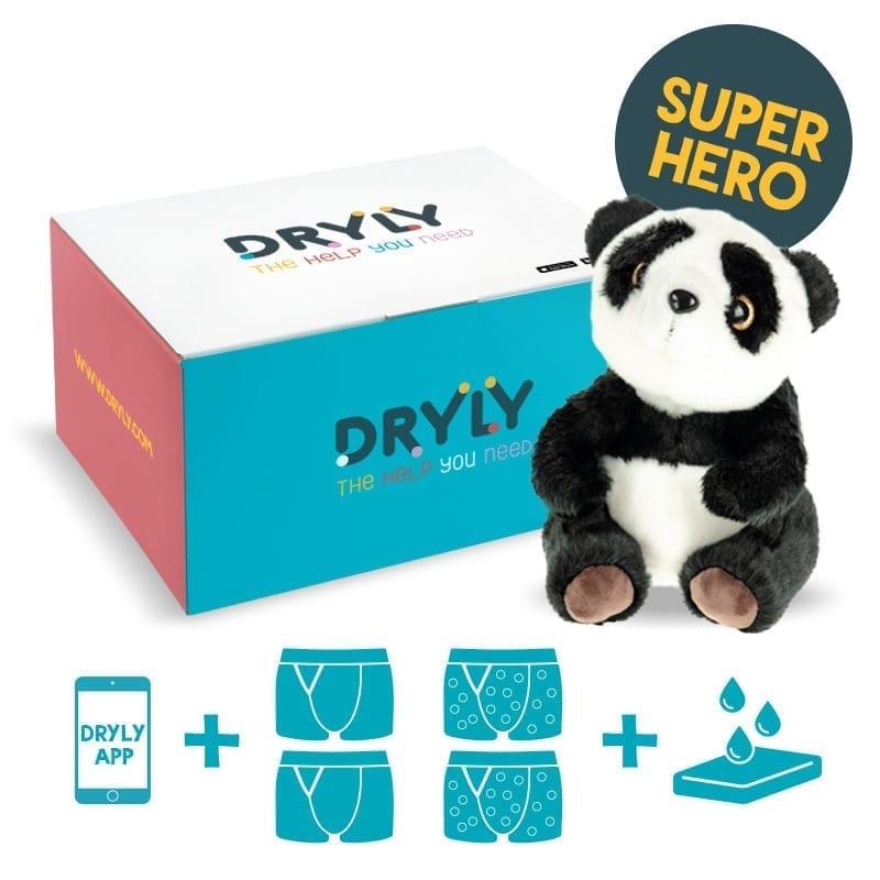 Dryly - plaswekker pakket - Superhero - de oplossing tegen bedplassen