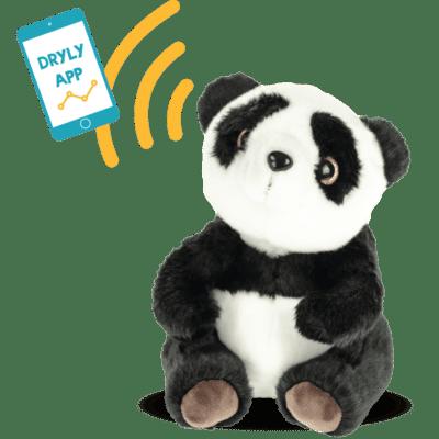 Dryly stuffed bear Wizzu sends signal to smartphone
