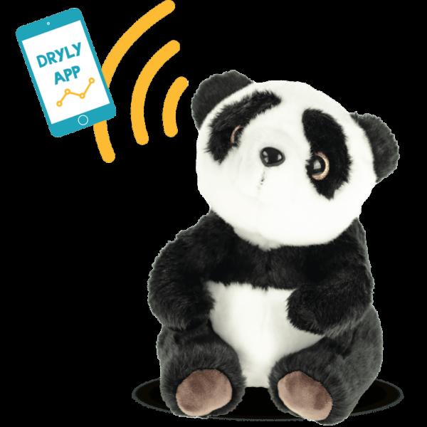 Le panda Dryly Wizzu envoie un signal au smartphone